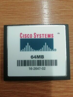 Cisco 64MB Flash Or Cisco 64MB Compact Flash CF Card CCNA CCNP CCIE • 2.99£