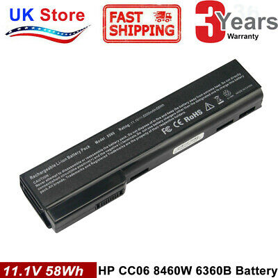 Battery For HP ProBook 6360b 6460b 6465b 6470b 6475b 6560b 6565b 6570b 8460P CL • 12.99£