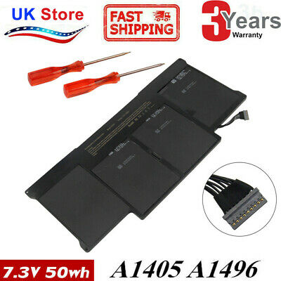 For Macbook Air 13 A1369 A1466 Battery 2012 - 2017 - A1496 A1405 UK • 25.99£