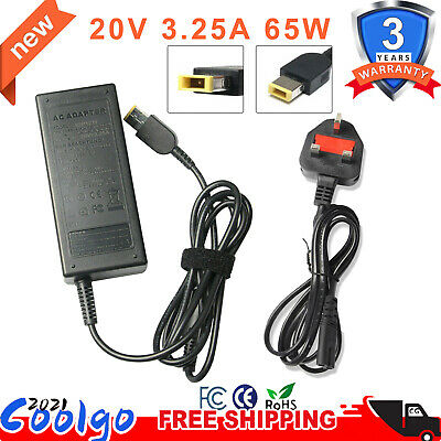 Adapter Charger For Lenovo ThinkPad X240 X240s X250 X260 X270 IdeaPad G50-30 65W • 9.49£
