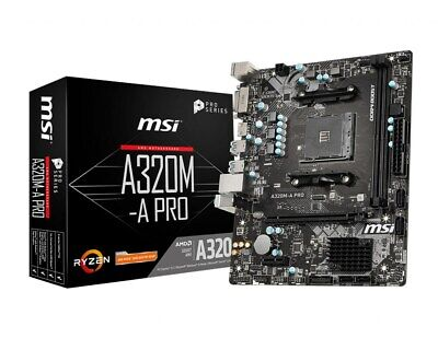 MSI A320M-A PRO MATX Motherboard For AMD AM4 CPUs • 45.32£