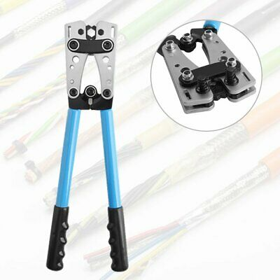 6-50mm² Terminal Battery Cable Lug Plug Crimper Crimping Hand Tool Plier Durable • 17.69£