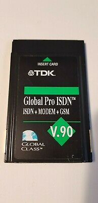 TDK GLOBAL PRO ISDN Modem GSM V.90 Incl ISDN And Modem Cable & Adapter • 5£