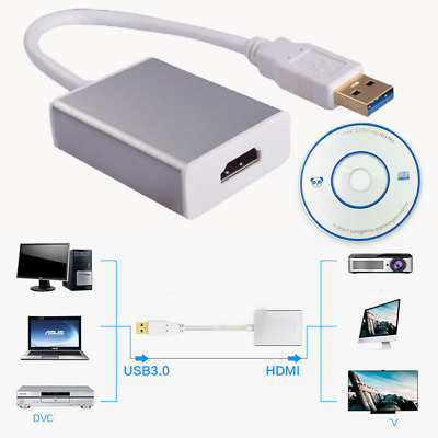 New USB 3.0 To HDMI HD 1080P Video Cable Adapter Converter For HDTV Laptop PC • 8.99£