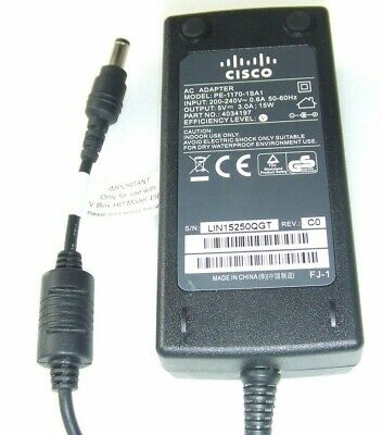 Genuine Cisco V Box Power Supply PE-1170-1SA1 5V 3A AC Adapter Cable • 6.99£