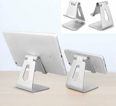Adjustable Desk Table Stand Holder Tool For IPad Tablet Phone Aluminum Silver UK • 7.99£