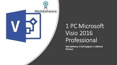 Instant Official Microsoft Visio 2016 Professional 1 PC Key + Download Link!  • 1.99£