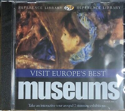 Visit Europe's Best Museums For PC CD-Rom Supplied Sealed (FreePost) • 1.85£