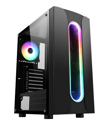 CiT Sauron Mid Tower Gaming Case - Black USB 3.0 • 36£