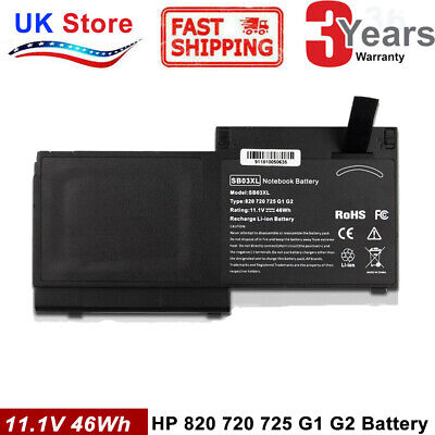 Battery 46WH For HP EliteBook 720 G1 725 G2 820 G1 820 G2 825 G2 Series • 19.99£