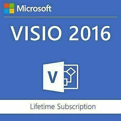 Instant Official Microsoft Visio 2016 Professional 1 PC Key + Download Link! • 1.85£