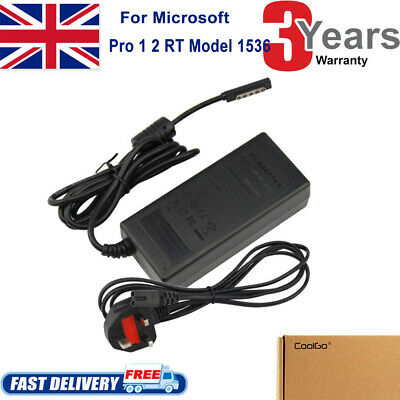 For Microsoft Surface Pro 1 & 2 RT 1601 1631 1536 Windows 8/10 Adapter Charger • 10.49£