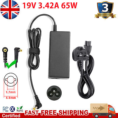 For Acer Aspire E15 Laptop Charger Adapter Power Supply + UK LEAD POWER CORD • 8.99£