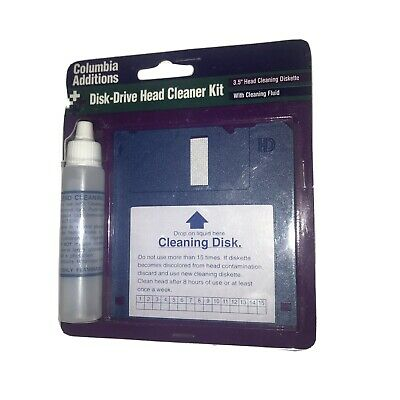 Columbia Additions Disk Drive Head Cleaner Kit Brand New • 10.90£