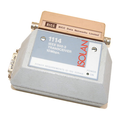 BICC Data Networks ISOLAN IEEE 802.3 10Mbps Transceiver 1114 • 49.99£