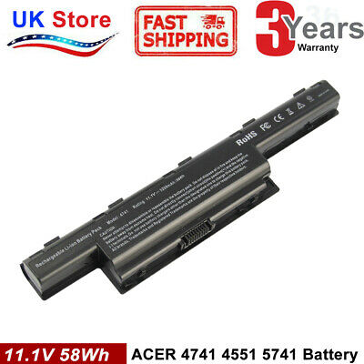 6 Cell Battery For Acer Aspire 5742 5750 7741Z 5552 4741 7551 5733 5750G 5336 • 12.99£