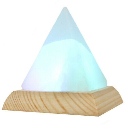 Pyramid Natural Himalayan Air Purifier Salt Lamp Ionic Rock Crystal Colorful USB • 17.99£