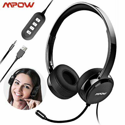 Mpow 071 USB Headset/ 3.5mm Computer Headset With Microphone Noise Cancelling UK • 23.99£