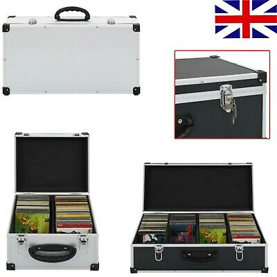 Lockable CD DVD Case Flight Carry Case Box Sleeves Recorder Storage Holder • 19.99£