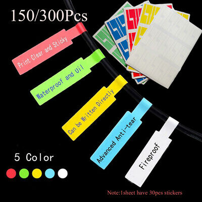 150X 5Sheets/set Self-Adhesive Network Cable Labels Identification Markers Tags • 3.20£