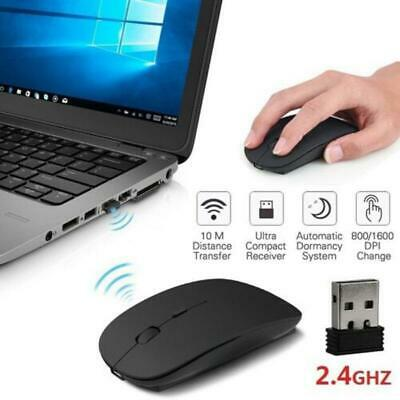 Wireless Cordless Mouse Optical Scroll 2.4GHz For PC Laptop Computer USB • 3.59£