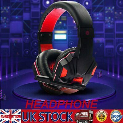 3.5mm Gaming Headset MIC LED Headphones For PC SW Laptop PS4 Slim Xbox One X S • 23.29£