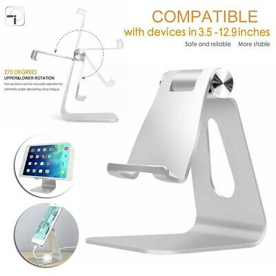 UK Adjustable Desktop Table Stand Holder For IPad Tablet Phone Light Part Silver • 7.29£