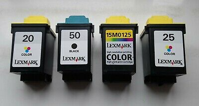 Lexmark 20 25 50 Used Ink Cartridges Refillable 40 In Total  • 16.90£