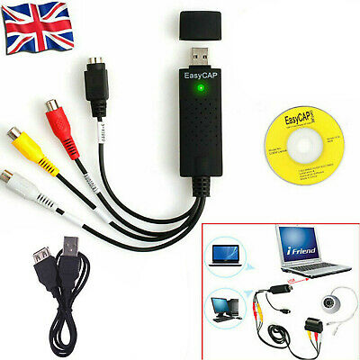 USB 2.0 Convert VHS VCR DV Camcorder To DVD Via PC USB Video Capture Adapter • 6.29£