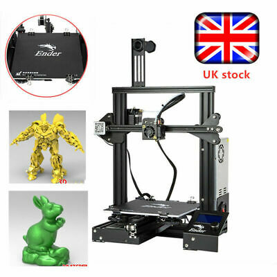 New Version Creality Ender 3 3D Printer 220X220X250mm 1.75mm PLA DC 24V UK Stock • 149.99£