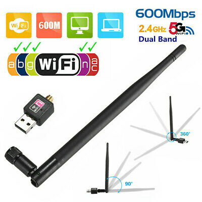 600Mbps USB WiFi Dongle 2.4GHz Adapter Antenna Wireless Network For Laptop PC UK • 4.28£