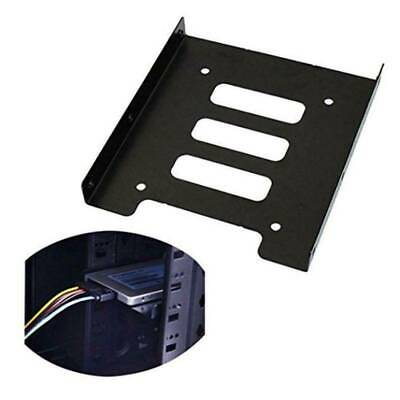 UK 2.5  To 3.5  SSD HDD Metal Adapter Mounting Bracket Hard Drive Holder For PC • 1.99£