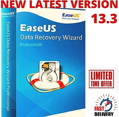 EaseUS Data Recovery Wizard V13.3-Full Version -Lifetime License - Fast Delivery • 4.99£