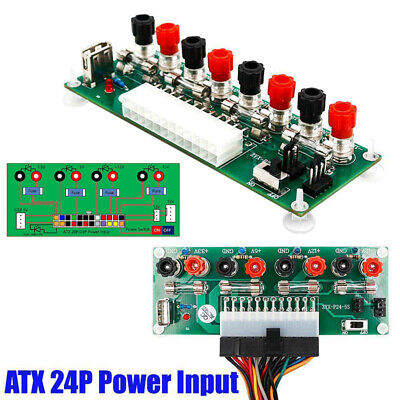 20/24Pin ATX Benchtop Board Computer PC Power Supply Breakout Adapter Module DIY • 7.98£