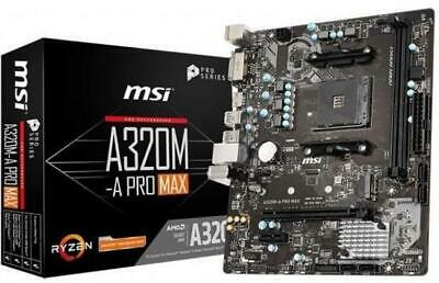 MSI A320M-A PRO MAX MOTHERBOARD AMD Socket AM4 AMD A320 Chipset • 56.99£