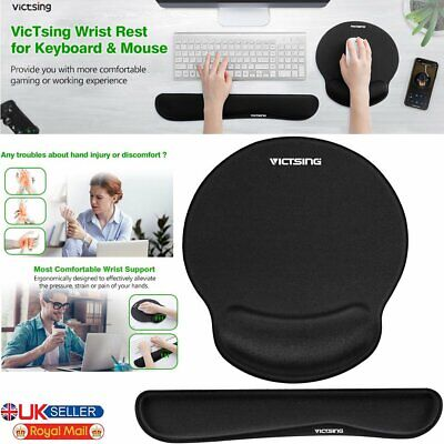 Keyboard Wrist Rest Pad And Mouse Pad With Gel Wrist Support For Computer Laptop • 11.99£