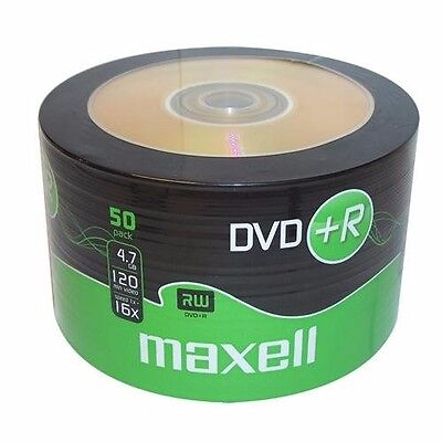 50 Maxell DVD+R RECORDABLE 16x Speed Blank Discs 4.7GB - 50 Pack DVD Plus R • 11.21£