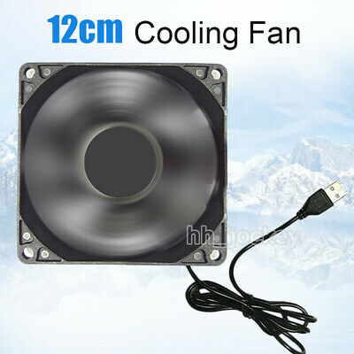 12cm DC 5V USB Cooler Black Silent Cooling Fan For Desktop PC Computer Case UK • 7.69£