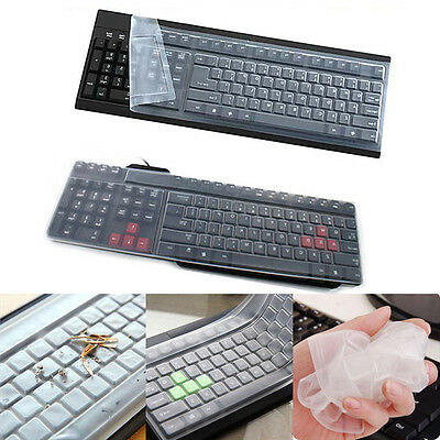 Universal Silicone Desktop Computer Keyboard Cover Skin Protector Film CoverUOS • 2.18£
