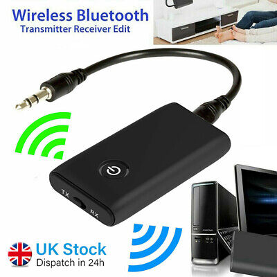 Wireless Bluetooth 5.0 Transmitter Receiver 2 In1 Stereo AUX Audio Music Adapter • 7.29£