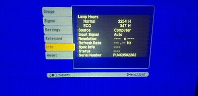 Epson LCD Projector EB-X11 2338 Hours Used • 34.99£