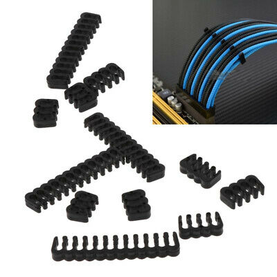 12Pc PP Cable Comb For 2.5-3.0 Mm Cables Black 6/8/24 Pin Computer Cable Comb W • 4.51£