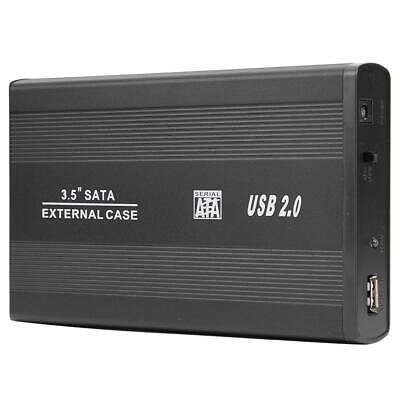 3.5 Inch USB 2.0 To SATA Port SSD Hard Drive Enclosure 480Mbps HDD Case • 12.92£