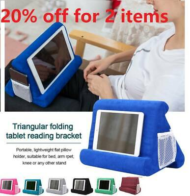 Multi-Angle Laptop Holder For Ipads Tablet Bed Soft Foam Pillow Stand Cushion UK • 9.59£