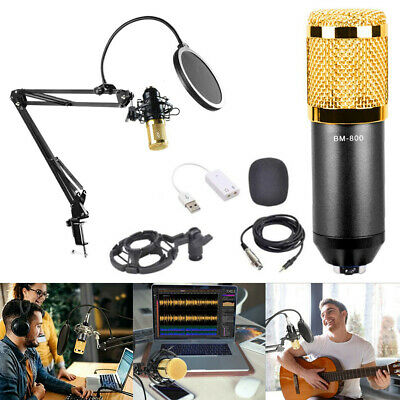USB Streaming Podcast Universal Recording Microphone For PC Laptop Scissor Boom • 28.99£