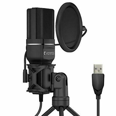 Kungber USB Microphone PC Computer Condenser Microphone PS4 Gaming Recording Mic • 38.99£