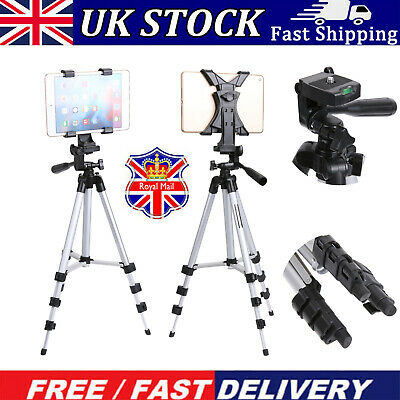 Professional Camera Tripod Stand Mount Phone Holder For IPad 2 3 4 Mini Air Pro • 7.99£