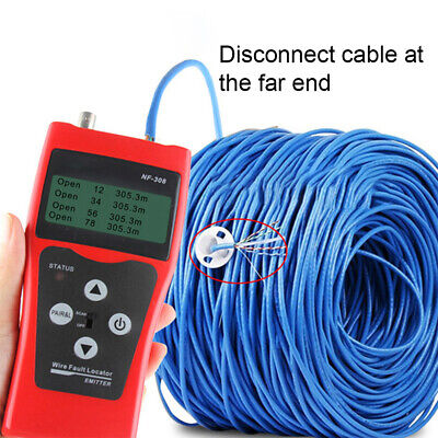 LCD RJ11 RJ45 LAN Ethernet Network Cable Wire Fault Locator Tester Finder Bro • 42.66£