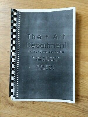 The Art Department Manual For The Commodore Amiga Vintage • 1.99£