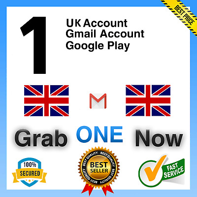 1 UK Gmail Google Account ✅ For Only $1.99 ✅ • 1£